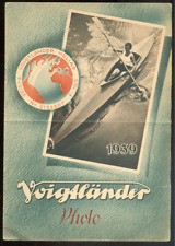 Dépliant publicitaire présentant 5 appareils photo VOIGTLÄNDER 1939