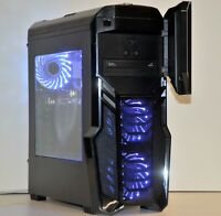 BUDGET FAST GAMING PC Quad 3.6 Ghz CPU DVD 8GB RAM GT GTX 1650 Windows 10 Wifi