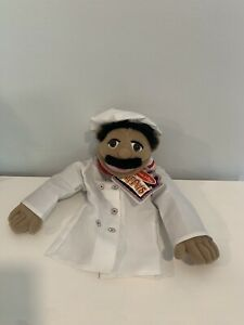 """Melissa & Doug Puppet Chef 15"""" Chef Pee Pee New W Tags Wooden Wand Lot 1"""