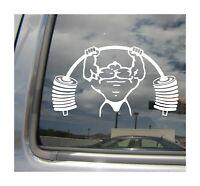 Powerlifter Powerlifting Bodybuilder - Auto Window Vinyl Decal Sticker 04021