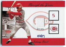 2005 National Pastime JOHNNY BENCH Buyback Through the Years Jersey Pants SP /17