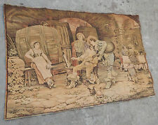 Vintage French Beautiful Woman Painting Scene Tapestry 145x97cm (A310)
