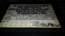 Earth, Wind, And Fire All 'N All Tour Rare Original Promo Poster Ad Framed!