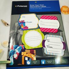 Polaroid Print your own Decorative Labels 240 Labels Drys Instantly Peel & Stick
