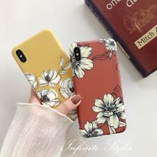 iPhone 11 Pro Max XR XS X Soft TPU Silicon Phone Case Cover Retro Floral