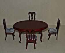 Tisch Set 103 , Tisch mit 4 Stühle    , 1:12 - Puppenmöbel , Puppenstuben