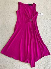 NEW NWT Ivanka Trump light dress polyester blend S SMALL 4 6 dropped waist angle