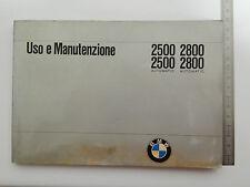 MANUALE USO MANUTENZIONE BMW 2500 2800 1970