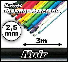 906# Gaine thermo 2,5 mm 3m --- ratio 1/2  gaine thermorétractable noir