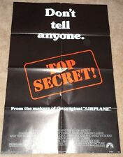 Top Secret Large 27 x 41 Movie Poster Nice Graphics Nice SEE!