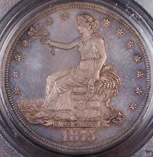 1875 Silver Trade Dollar PCGS MS-64 *Gem BU* Toned Coin Very Rare DGH