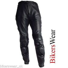RICHA Slider Black Leather Sports Motorcycle Trousers Regular / Short CLERENCE