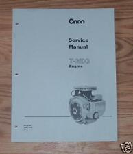 ONAN SERVICE MANUAL T260G (specs A-G )  ENGINES 965-0760