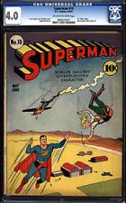 Superman #10 CGC 4.0 DC 1941 1st Luthor bald #1 Movie! 70 years old! cm