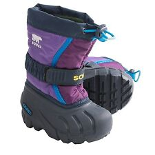 BIG GIRL KIDS YOUTH 6 WOMEN 8 SOREL FLURRY TP PAC BOOTS INSULATED PURPLE BLUE
