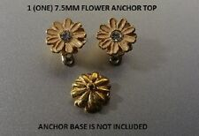 Daisy With Gem Dermal Anchor Top G23 Titanium 14G 8mm Enamel Painted Flower