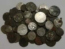 Huge lot 121 Medieval coins (XII-XVII) century, crusader hammered silver bronze