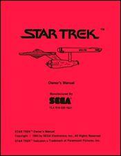 Star Trek Video Operations/Service/Repair Manual/Coin Arcade Machine Sega Xc