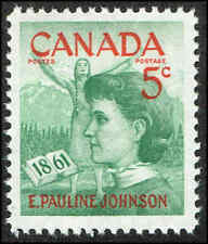 Scott # 392 - 1961 - ' E. Pauline Johnson '