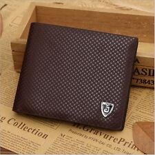 Men Leather Wallet brown Credit Card Holder Brand Purse Money Clip Wallets