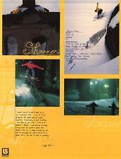 SNOWBOARD POSTER~Shannon Dunn Original Burton 2 Sided OOP Signed Bio Profile NOS