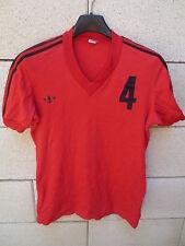 Maillot ADIDAS vintage porté n°4 rouge nylon trikot shirt jersey VENTEX maglia S