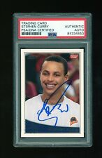 2009/10 09/10 Topps Stephen Steph Curry RC Rookie Signed Auto PSA/DNA Warriors