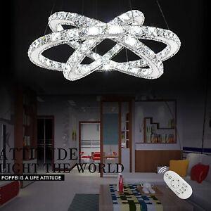 48W-96W LED Kristall Hängeleuchte Kronleuchter Pendelleuchte Deckenlampe Lüster