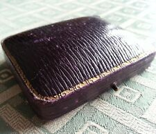 Antique violet box for jewellery buttons collar studs  cuff links chain gift