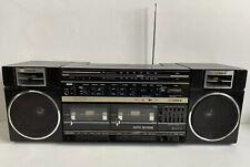 Fisher Portable Stereo Ph-W464 Radio Boom Box Ghetto Blaster Removable Speakers