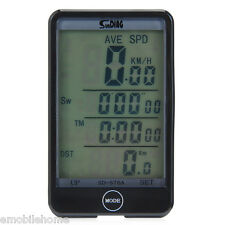 SD - 576A Light Mode Touch Wired Bicycle Computer Speedometer with Line Control