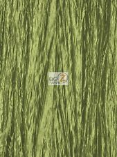 """CRUSHED TAFFETA FABRIC - Sage - 54"""" WIDE CREASED BY THE YARD CLOTHING CRAFTS"""