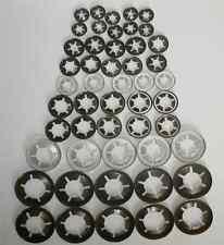 Genuine Starlock Washers For Metric Round Shaft,50 Piece Assortment