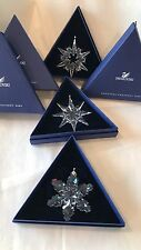 Swarovski Annual Edition Snowflake Christmas Ornament 2007, 2008, 2009 - RETIRED
