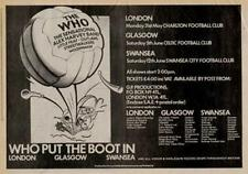 Who The Alex Harvey Outlaws Little UK show advert 1976 #1 ABCD