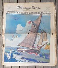 Melb. HERALD newspaper, 15th. Oct. 1934 100 p. Ed. celebrating MELB.Centenary