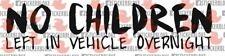 NO CHILDREN LEFT IN VEHICLE OVERNIGHT STICKER DECAL KIA CEED CERATO RIO SOUL