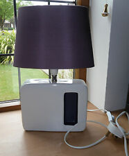 Table / Bedside Lamp by Next - White and Purple Ceramic Body with Purple Shade