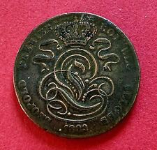 Belgique - Belgium - Léopold Ier - Très Jolie monnaie de 5 Centimes 1833 KM#5.1
