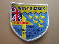 West Sussex Sweden 2011 Jamboree Cloth Patch Badge Boy Scouts Scouting L3K C