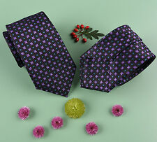 "Purple Floral Teal Coffee Bean Eclipse Mens 3"" Modern Woven Tie from B2B Shirts"