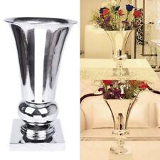 40cm Large Stunning Silver Iron Luxury Flower Vase Urn Wedding Table Centrepiece