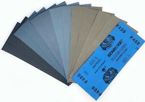 Sortiment SET Schleifpapier 12 Blatt 5000 3000 2000 1000 800 400 | 230 x 91 mm