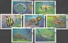 Timbres Faune marine Poissons Tanzanie 1852/8 o lot 1346