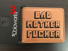 Bad Mother EFFER Wallet Brown with Black Embroidery. Guaranteed 3 Day Delivery!!