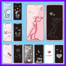 Invisible Cartoon Pink Panther Glitter Graphic Full Screen Tempered Glass 2020