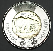 Canada 2019 2 Dollar BU Canadian Toonie Polar Bear Uncirculated Coin