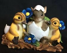 Fitz and Floyd Charming Tails You're One Of A Kind Figurine chick Easter egg