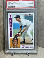1984 Topps Baseball Card #8 Don Mattingly Rookie Graded PSA 8 Yankees!