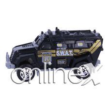 Coche Juguete Negro Policía SWAT Entretenido Escala 1:64 a1622